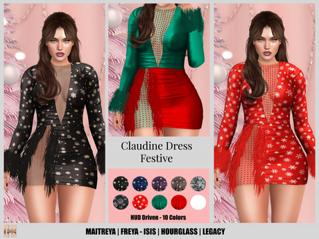 [hh] Claudine Dress FESTIVE