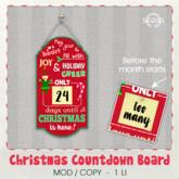 Sequel - Christmas Countdown Board - Christmas Decoration