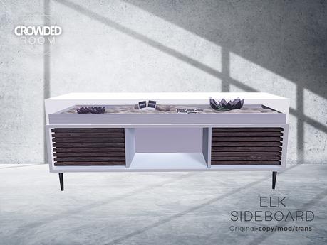 Crowded Room - Elk Sideboard - White