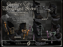 •´¨*•Wonderland Cheshire Cat Stilleto's ~3 Colors