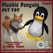 Plushie Penguin Toy by Vavoom! - Toys and Accessories for Virtual Kennel Club (VKC®) Pets - No Training Required