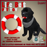 Life Belt Red-White Pet Toy by Vavoom! - Toys and Accessories for Virtual Kennel Club (VKC®) Pets - No Training Required