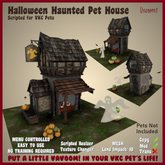 Halloween Haunted Dog House by Vavoom! - Accessories and Toys for Virtual Kennel Club (VKC®) Pets - No Training Required