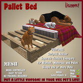 Pallet Bed by Vavoom! - Accessories and Toys for Virtual Kennel Club (VKC®) Pets - No Training Required