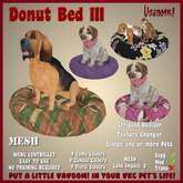 Donut Bed III by Vavoom! (Boxed) - Accessories and Toys for Virtual Kennel Club (VKC®) Pets - No Training Required