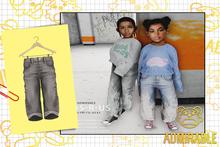 Admirbale- Wide Leg Jeans (Grey)