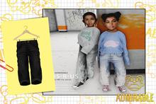 Admirbale- Wide Leg Jeans (Black)