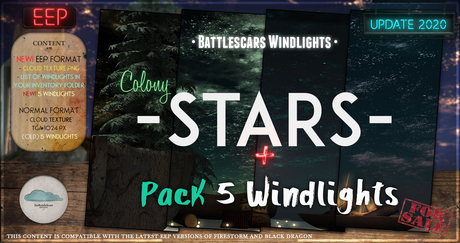 - BATTLESCARS WL  - STARS - COLONY 2.0 (PREMIUM) (EEP & NO EEP FORMAT)