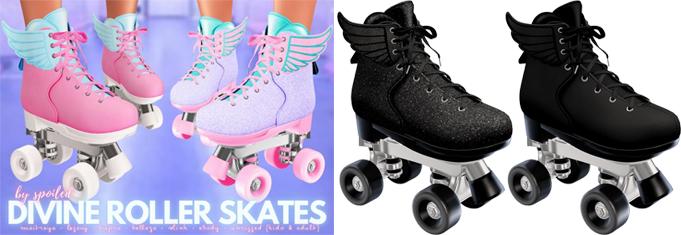 Spoiled - Divine Roller Skates Black