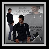 ♡ Bliss Designs ~ Men's Dark Blue Hoodie, Jeans With Cuffs & Sneakers ~ A Great Looking Men's Outfit.