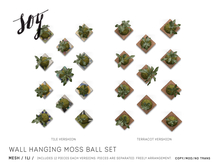 Soy. Wall Hanging Moss Ball Set [addme]