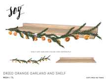 Soy. Dried Orange Garland and Shelf [addme]