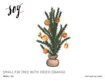 Soy. Small Fir tree with Dried Orange [addme]