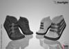 :: SA :: Perrie - Ladies Strapped Sneakers - Mid Foot - Demo
