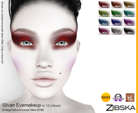 Zibska ~ Silvan Makeup in 12 colors with Omega appliers, tattoo and universal tattoo BOM layers