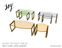 Soy. Glass Top Nest Table [addme]