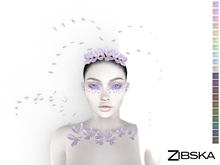 Zibska ~ Rhiany Color Change Headpiece, Chest adornment, brows and orbit