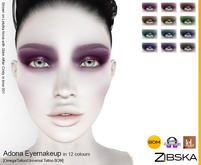 Zibska ~ Adona Eyemakeup in 12 colors with Omega appliers, tattoo and universal tattoo BOM layers