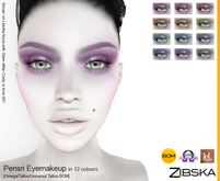 Zibska ~ Pensri Eyemakeup in 12 colors with Omega appliers, tattoo and universal tattoo BOM layers