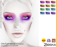 Zibska ~ Orla Eyemakeup in 12 colors with Omega appliers, tattoo and universal tattoo BOM layers