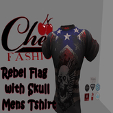 CFA Rebel Flag w/ skull  T-Shirt - Fitted Mesh(boxed)