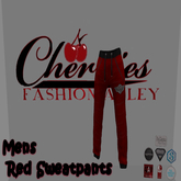CFA  Sweat Pants Red-Fitted Mesh(boxed)