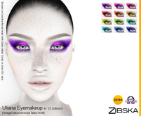 Zibska ~ Uliana Eyemakeup in 12 colors with Omega appliers, tattoo and universal tattoo BOM layers
