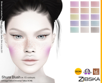 Zibska ~ Shura Blush in 15 colors with omega applier, tattoo and universal tattoo BOM layers