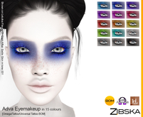Zibska ~ Adva Eyemakeup in 15 colors with Omega appliers, tattoo and universal tattoo BOM layers