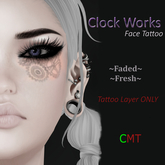 .HIPNOTIC. Clock Works Face Tattoo BOXED