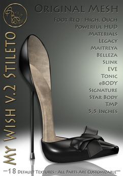 ***ArisArisB&W~My Wish Stilettos v2.0-