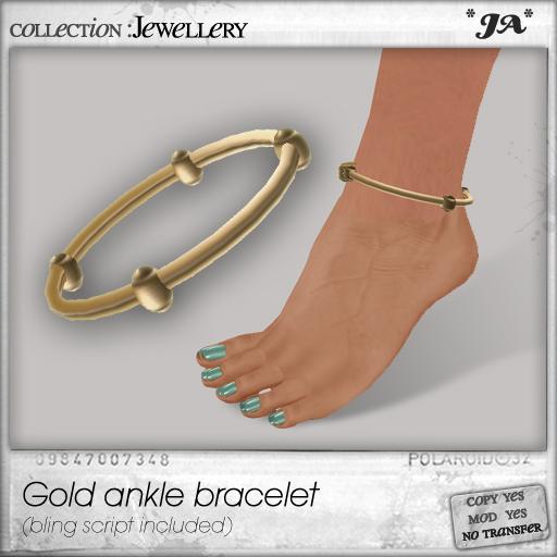 *JA* Gold ankle bracelet