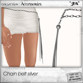 *JA* chain belt silver