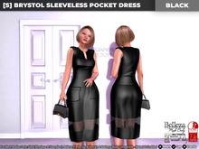 [S] Brystol Sleeveless Pocket Dress Black