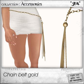 *JA* chain belt gold