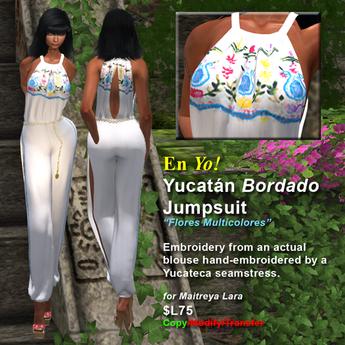 En Yo! Yucatan Bordado Jumpsuit Flores Multicolores for Maitreya Lara