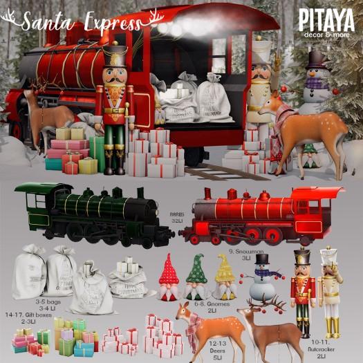 Pitaya - Santa Express - Train red RARE