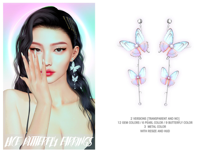 = DAE = Lace butterflies earring pack