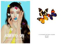 = DAE = Butterfly girl mesh pack