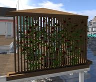 AfterImage Design Corner Gazebo w Roses For Stilt Decks