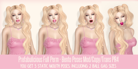 Prefabulicious - Bento Mouth Poses Creator Pack