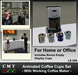 Animated Office Humor Ceramic Coffee Cups Set & Coffee Maker