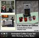 Animated Valentine's Day Ceramic Coffee Cups Set & Coffee Maker