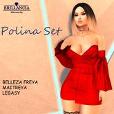 BRILLANCIA  POLINA SET  - RED