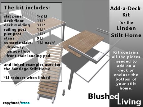 Blushed Living - Stilts Build a Deck Kit