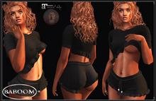 Baboom Lilly- shirt shorts-black