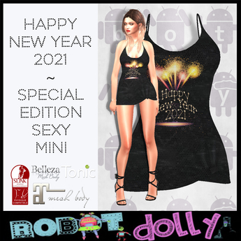 Robot Dolly - Happy New Year 2021 - Sexy Mini Dress