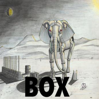 BOX,Mechanical Elephant (canvas)
