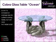 "Cobra Glass Table ""Ocean"""