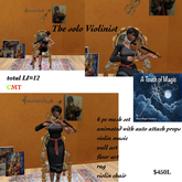 The Violinist chair & art decor animated with sound-BOX